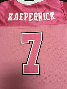 San Francisco 49ers NFL Kids Youth Girls Size Pink Colin Kaepernick Jersey New