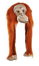 Tier Mütze Plüsch Mütze Affe Orang Utan