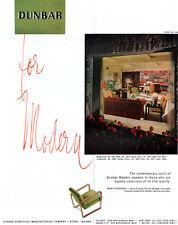 Dunbar Mid Century Modern Furniture SOFA Lounge Chair LAMP TABLE 1949 Print Ad