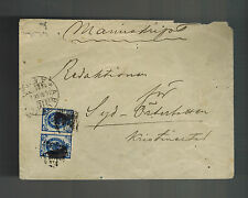 1908 Abo Russia cover to Kristinastel