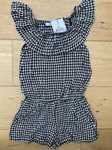 Brand New M&S Gingham Summer Playsuit Age 3-4!