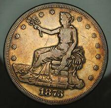 1873 S Trade Dollar - Fine Details !!
