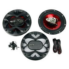 Boss 6.5 Inch 300 Watt 3-Way Car Coaxial Audio Red Stereo Speakers CH6530 (Pair)