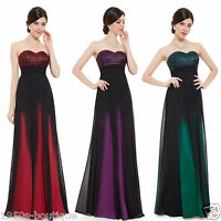 Long Chiffon Wedding Evening Formal Party Ball Gown Prom Bridesmaid Dress N50