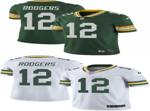 Aaron Rodgers #12 Green Bay Packers Men's Green / White Home Game Jersey