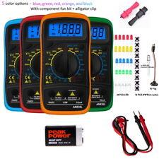 Digital Voltmeter Ammeter Ohmmeter Multimeter Volt Ac Dc Tester Meter With Led Kit