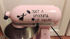 Spoonful of Sugar Kitchenaid Mixer Vinyl Decal Sticker Dessert Mary Poppins