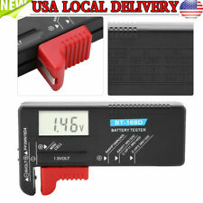 Universal Digital AAA/C/D/9V/1.5V Button Battery Volt Tester Checker Indicator