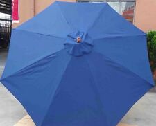 Blue 3m parasol/umbrella- wood Garden parasol-with Crank -8 RIBS-180g/m2 Materia