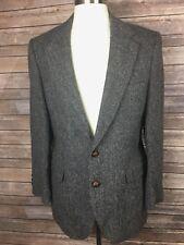 Anthony Bentley Grodins Harris Tweed Mens 40 Scottish Wool Herring Bone Blazer