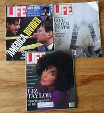 Life Magazines February March July 1992 3 Issues Liz Taylor Garth Brooks