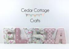 Fabric Nursery letters Wall Art Personalised Handmade name, girl, boy, new baby