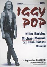 "IGGY POP / KILLER BARBIES TOUR POSTER / KONZERTPLAKAT ""HAMBURG GROSSE FREIHEIT"""