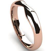 "Comfort Fit ""Twist""  ""Ribbon"" Wedding Band 14K karat Rose Gold 3.00 mm Width"