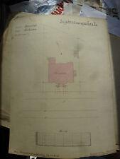 Karte Kartierung Zeichnung Hamburg Barmbek Finkenau 1916 Kunstgewerkschule