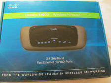 CISCO LINKSYS E 1000 WIRELESS -N ROUTER