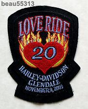 HARLEY DAVIDSON GLENDALE CALIFORNIA DEALER MDA 2003 20th LOVE RIDE VEST PATCH