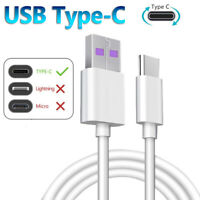 5A USB Type C Phone Super Fast Charging Cable Data Sync Cord for Huawei Samsung