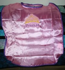 """Princess w/Crown A"" Pink Child's Silk Cape NWOT embroidered-ADD A NAME FREE!"
