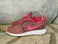Nike Roshe One Flyknit Shoes Women's Size 7  Multicolor Pink Black 704927 004