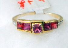 ESTATE VINTAGE DIAMOND RUBY 14 K GOLD RING