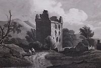 1813 DATED SCOTLAND PRINT ~ NEWARK CASTLE ~ SELKIRKSHIRE