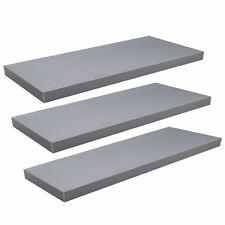 Floating Wooden Wall Shelves Shelf Wall Storage 80cm - Grey - x3