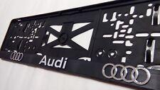2 x ECHTE 3D-Effekt Kennzeichenhalter Nummernschildhalter Audi chrom