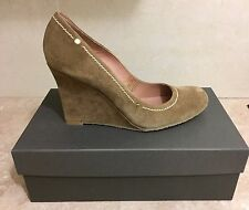 Pied-A-Terre Wedge Suede Court Shoes - Size 7 (40)