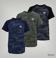 Boys Ripstop Logo Cotton Camo Detailing T Shirt Sizes Age from 5 to 14 Yrs