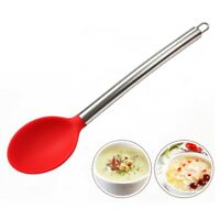New Stainless Steel Handle Silicone Serving Spoon Cooking Kitchen Utensils Tools