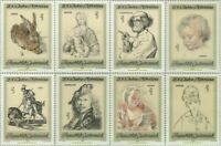 EBS Austria 1969 - Art works at Albertina Museum, Vienna - ANK 1337-1344 MNH**