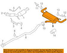 VOLVO OEM 12-13 S60 2.5L-L5-Exhaust System Muffler 31392383