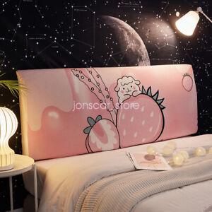 Soft Cartoon Headboard Slipcover Stretch Dustproof Furniture Cover Bedroom Decor