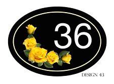 House,door,caravan Horizontal Floral Plaque/sign Your number/road NEW DESIGNS