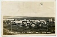 Plato Saskatchewan Business Section Vintage Photo Postcard Canada