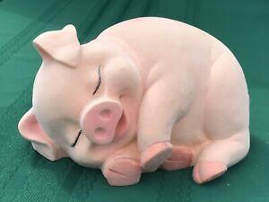 Cute Chubby Piggy Flocked Ceramic Piggy Bank