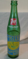 Notre Dame Fighting Irish Football 1973 National Champions 7up Bottle AD VTG ND