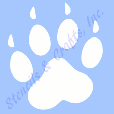 "3""  PAW STENCIL PAWS PRINTS STENCILS TEMPLATE TEMPLATES PAINT ART CRAFT #3 NEW"