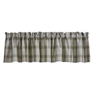Park Designs TIMBERLLINE Unlined Window Valance - Gray, Green, Black, Tan Plaid