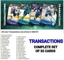 2018 TRANSACTIONS COMPLETE SET OF 32 CARDS Topps NHL Skate Digital Card
