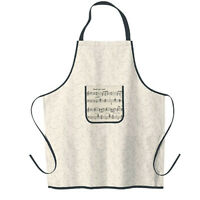 Music Notes Kitchen Apron - Unisex Adult One Size - Made in USA -