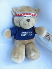 "VTG Bruce Springsteen Teddy Bear Born in the USA Applause 1986 Plush 11"" w/tags"