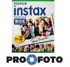 Fujifilm fuji instax wide film 2x10p pour caméras fuji 100 200 210 300 500af lomo
