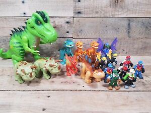 17 Piece Lot Of Fisher-Price Imaginext Jurassic World Dinosaur & Figure Lot