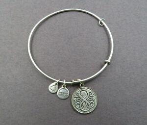 Alex and Ani Path of Life Silver Tone Expandable Bangle Bracelet