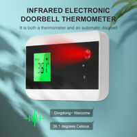 Wall Mounted Bluetooth Infrared Forehead Thermometer Doorbell LCD Display