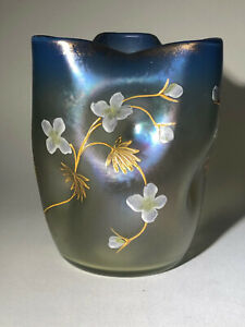 Loetz Luna Glass Glas Vase C1900 Bohemian Art Nouveau