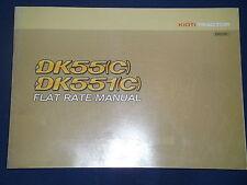 KIOTI DK55 DK551 (C) TRACTOR FLAT RATE CATALOG BOOK MANUAL