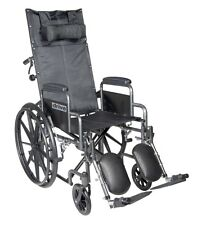 Drive Medical Silver Sport Reclining Wheelchair W/Detachable Desk Length Arms